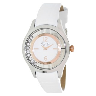 Kenneth Cole Women's White Calfskin Strap Watch