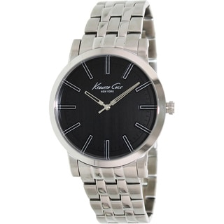 Kenneth Cole Men's Black Dial Stainless Steel Watch