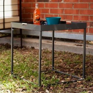 Upton Home Almaden Silver Indoor/ Outdoor Butler Accent Table