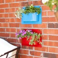 Ralston Indoor/ Outdoor Metal Wall-Mount Storage Bin 2-piece Set