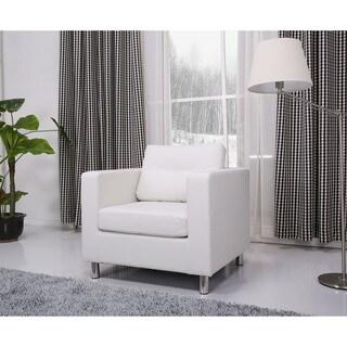 Detroit White Arm Chair