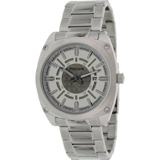Police Men's Silvertone Stainless Steel Watch