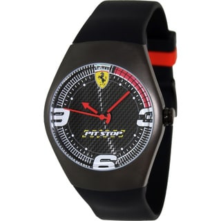 Ferrari Men's FW03 Black Rubber Analog Quartz Watch with Black Dial