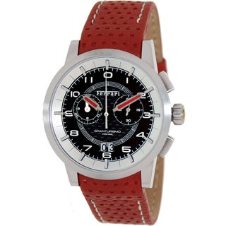 Ferrari Men's FE-11-ACC-CP-BK Red Leather Swiss Chronograph Watch with Black Dial