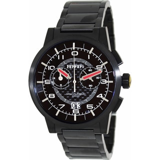 Ferrari Men's FE-11-IPB-CM-BK Black Stainless-Steel Swiss Chronograph Watch with Black Dial