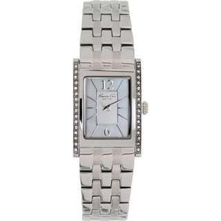 Kenneth Cole Women's KC4874 Silver Stainless Steel Analog Quartz Watch with Silver Dial
