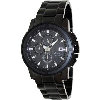 Kenneth Cole Men's KC9204 Black Stainless Steel Quartz Watch with Black Dial