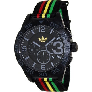 Adidas Men's Newburgh ADH2795 Black Nylon Quartz Watch with Black Dial