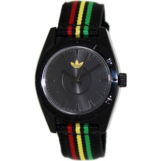 Adidas Women's Santiago ADH2791 Black Nylon Quartz Watch with Black Dial