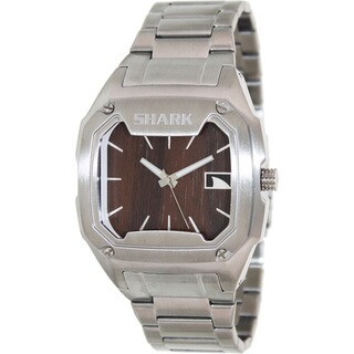 FreeStyle Men's 'Shark 101987' Silvertone Stainless Steel Brown Dial Quartz Watch