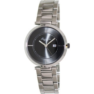Kenneth Cole Women's 'KC4918' Silvertone Stainless Steel Grey Dial Quartz Watch
