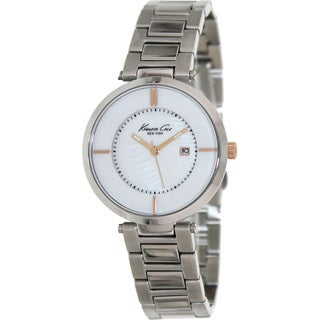 Kenneth Cole Women's 'KC4917' Silvertone Stainless Steel Mother-of-Pearl Dial Quartz Watch