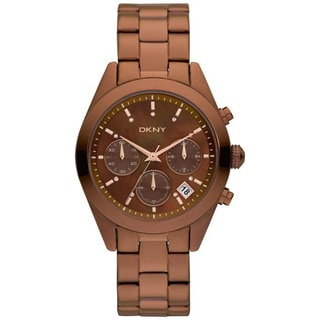DKNY Women's 'NY8583' Brown Stainless Steel Quartz Watch