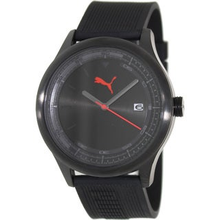Puma Men's 'Wheel' Black Dial Analog Watch