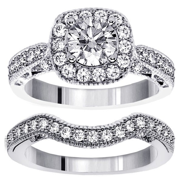 White Gold or Platinum 2 2/5ct TDW Diamond Bridal Ring Set (F-G, SI1-SI2)
