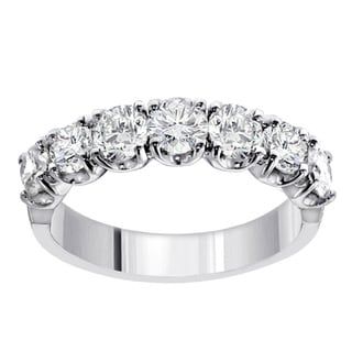 14k White Gold 1 1/2ct TDW Diamond Wedding Band (F-G, SI1-SI2)