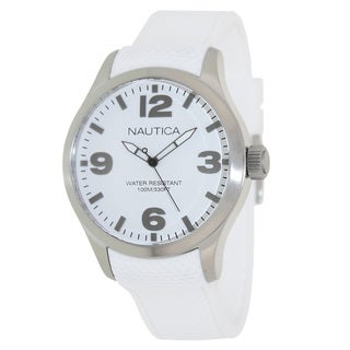 Nautica Men's White Silicone Strap Watch