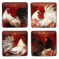 Certified International Avignon Rooster Dessert Plate Set (Set of 4)