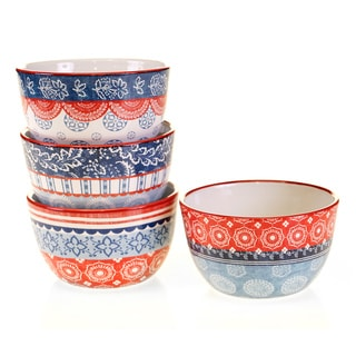 Certified International Americana Rooster Ice Cream Bowls