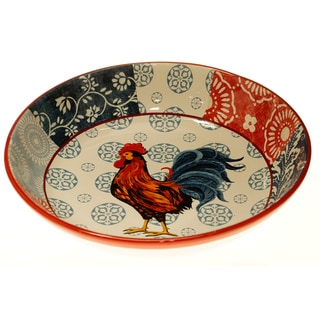 Certified International Americana Rooster Pasta/ Serving Bowl