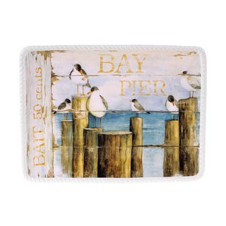 Certified International Beach Cottage Rectangular Platter