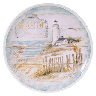 Certified International Beach Cottage Round Platter