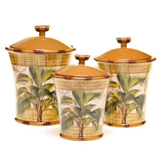 Certified International Las Palmas 3-Piece Canister Set
