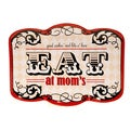 Certified International Eat At Mom's Rectangular Platter