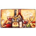 Certified International Wine and Cheese Party 18-inch Rectangular Platter