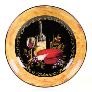 Certified International Wine and Cheese Party Pasta/ Serving Bowl