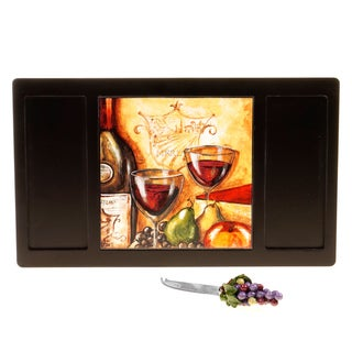 Certified International Wine and Cheese Board with Tile and Knife