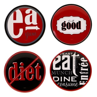 Certified International Eat At Mom's Canape Plate (Set of 4)