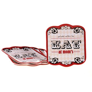 Certified International Eat At Mom's Dinner Plates (Set of 4)