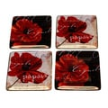Certified International Midnight Poppies Canape Plates (Set of 4)