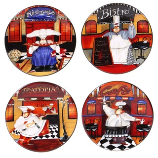 Certified International Trattoria Canape Plate (Set of 4)