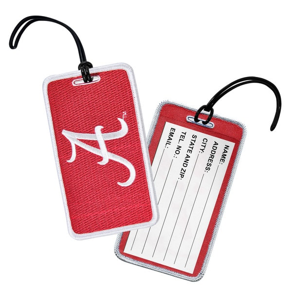 NCAA University Logo Luggage Tags A-F (Set of 3)