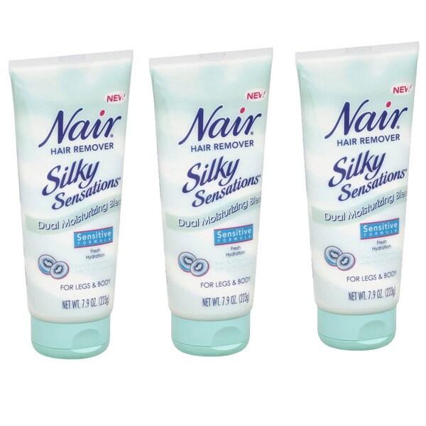 Nair Silky Sensations Sensitive Formula 7.9-ounce Hair Remover (Pack of 3) 11349494