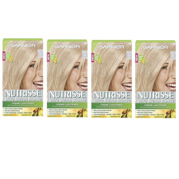 Garnier Nutrisse Ultra Bleach Blonde Hair Lightening Kit (Pack of 4)