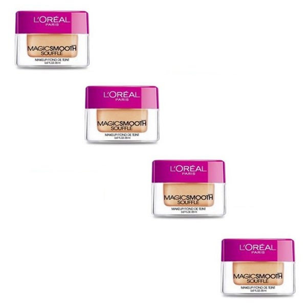 L'Oreal MagicSmooth Souffle Light Ivory 510 Foundation (Pack of 4)