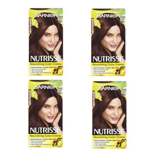 Garnier Nutrisse Color Creme Medium Rich Mahogany Brown Hair Color (Pack of 4)