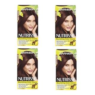 Garnier Nutrisse Color Creme Medium Rich Mahogany Brown Hair Color (Pack of 4)