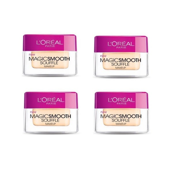L'Oreal MagicSmooth Souffle Buff Beige 524 Foundation (Pack of 4)