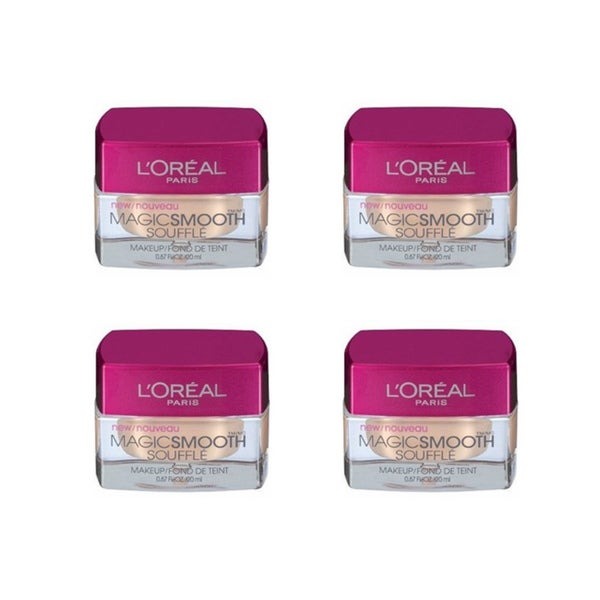L'Oreal MagicSmooth Souffle True Beige 528 Foundation (Pack of 4)