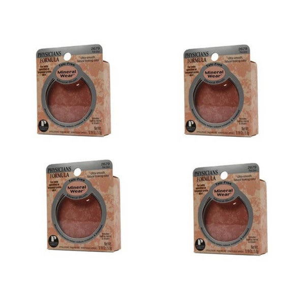 Physicians Formula Mineral Wear Pink Glow Blush (Pack of 4)