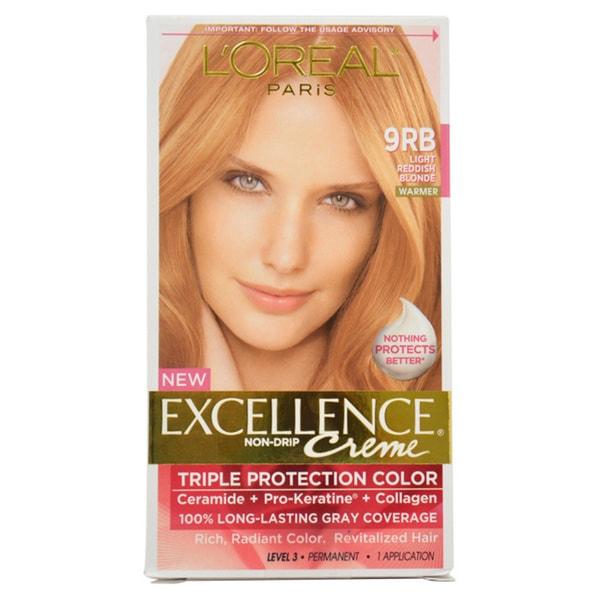 L'Oreal Excellence Creme 'Light Reddish Blonde 9RB' Warmer Hair Color