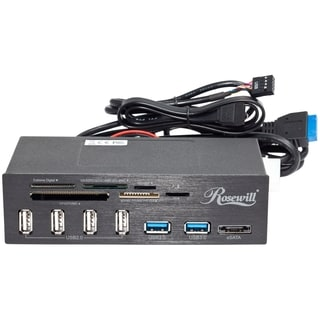 "Rosewill RDCR-11004 5.25"" Internal Card Reader w/ USB3.0 Connector"