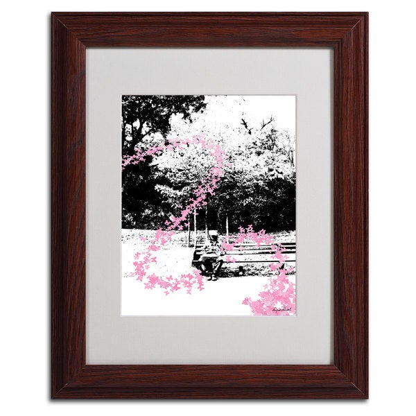 Miguel Paredes 'Pink Butterflies' Framed Matted Art 11350797