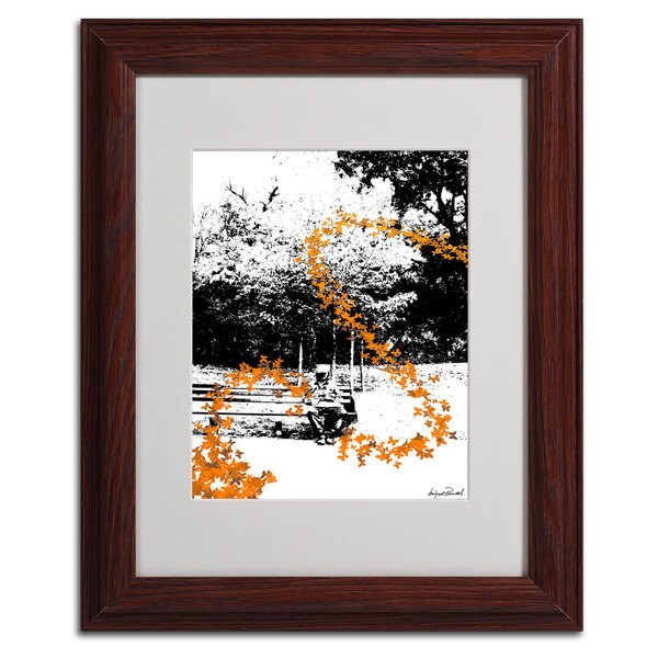 Miguel Paredes 'Orange Butterflies' Framed Matted Art 11350801