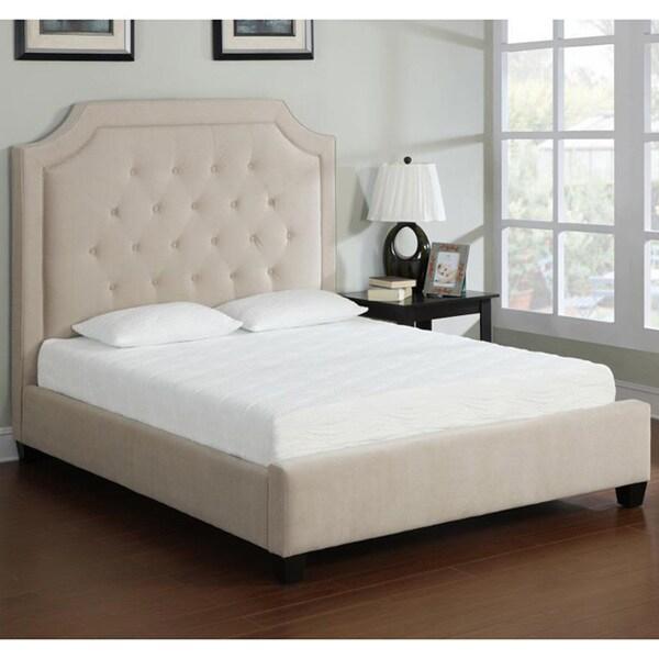 Camel Wood Slat Platform Bed