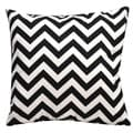 Chevron Black and White 18-inch Throw Pillow
